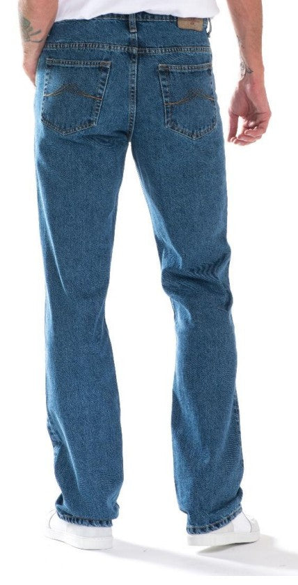 Full Blue Brand Men's Regular Fit Stretch Jeans Stone Wash-2