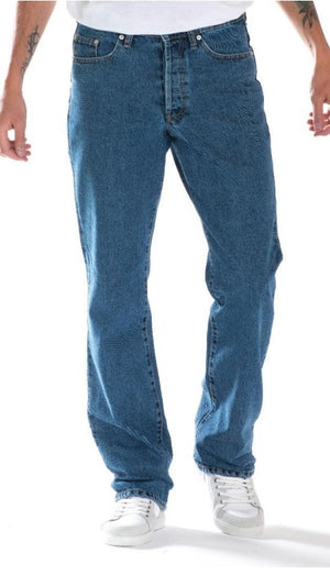 Full Blue Brand Men's Relaxed Fit Stretch Jeans Stone Wash