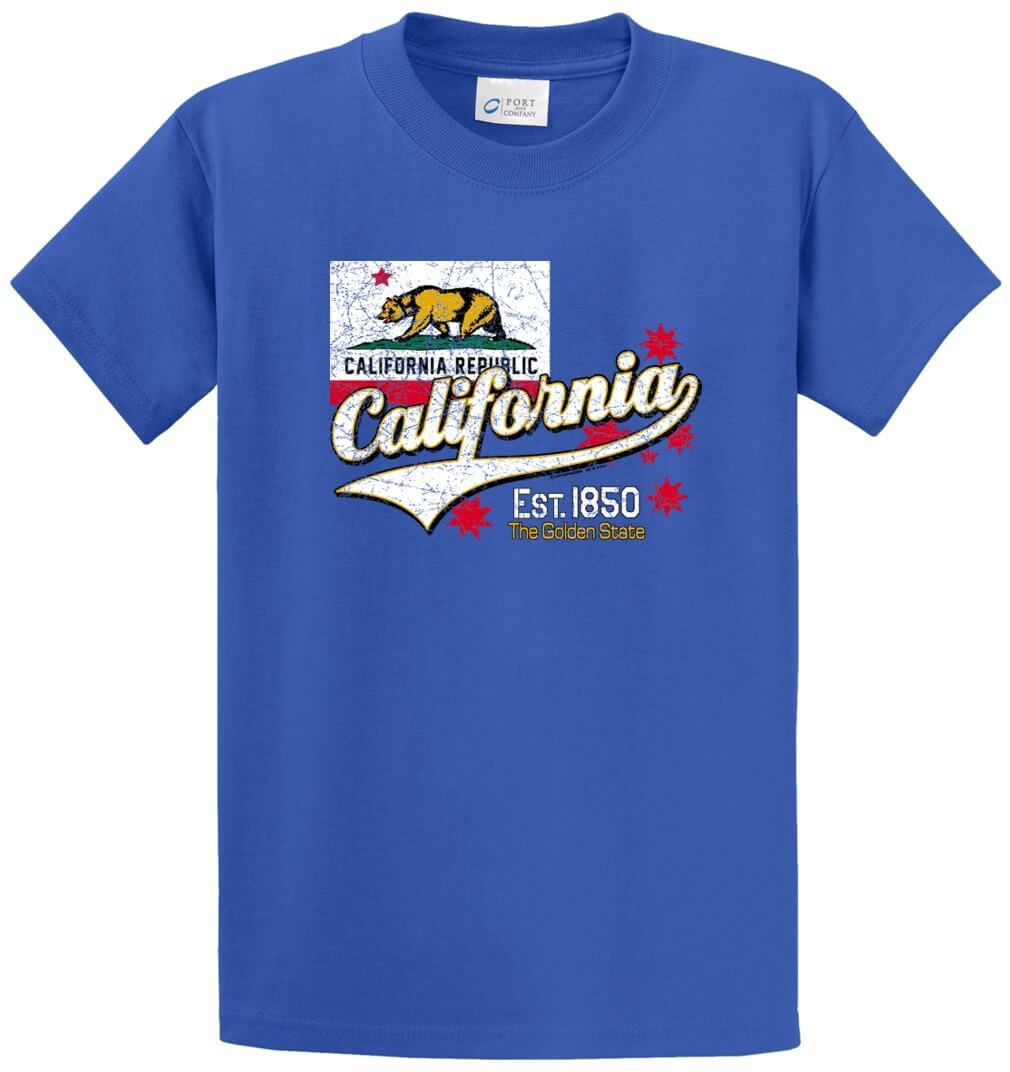 Bear California Republic Printed Tee Shirt-1