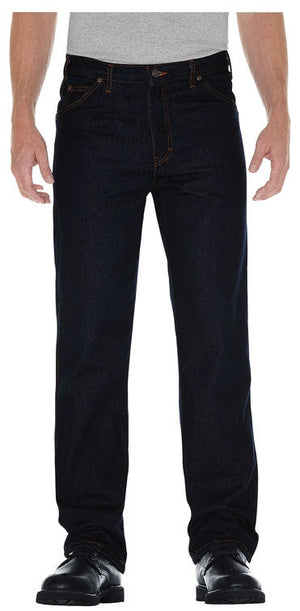 Dickies Men's Black Regular Fit Prewashed Jeans