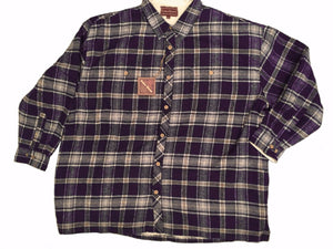 Falcon Bay Men's Long Sleeve Flannel Plaid Shirt With Sherpa Lining