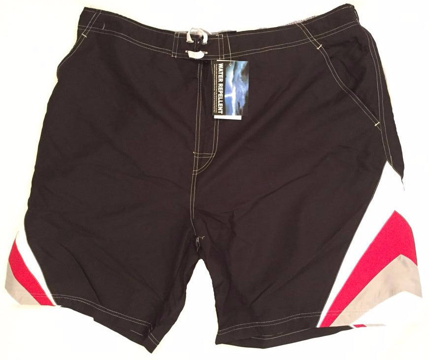 Falcon Bay Big Men's Swim Shorts With Chevron Design
