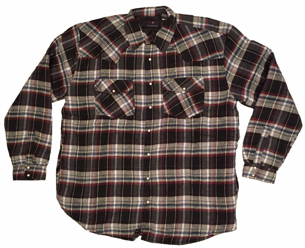Falcon Bay Men's Long Sleeve Lined Flannel Plaid Shirt-1