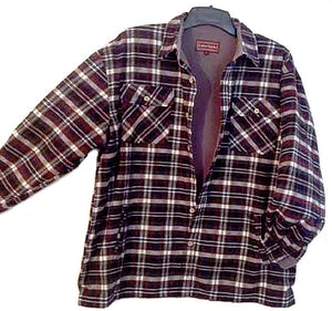 Falcon Bay Men's Long Sleeve Fleece Lined Flannel Plaid Shirt