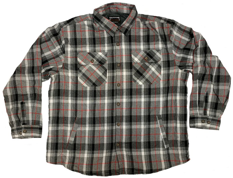GREYSTONE Sherpa Lined Flannel Shirt Jac