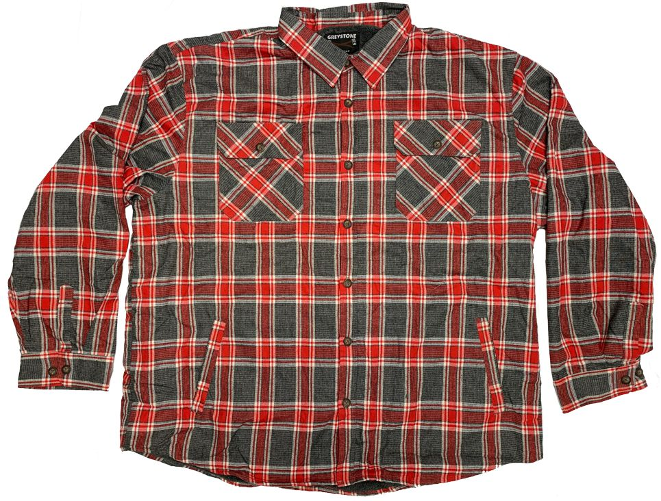 GREYSTONE Sherpa Lined Flannel Shirt Jac-2