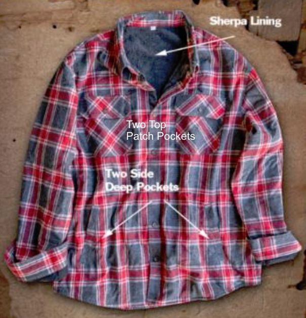 GREYSTONE Sherpa Lined Flannel Shirt Jac-3