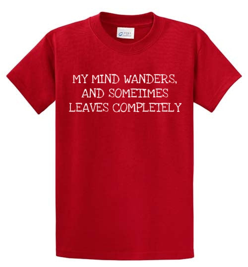 My Mind Wanders Printed Tee Shirt-1