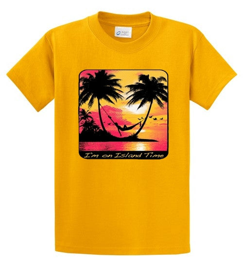 I'm On Island Time Printed Tee Shirt-1