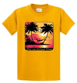 I'm On Island Time Printed Tee Shirt
