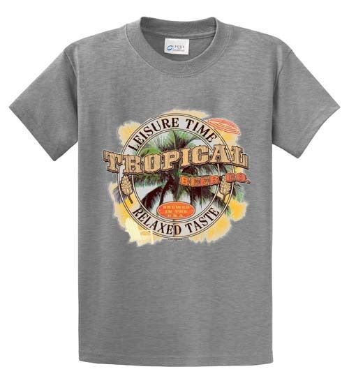 Leisure Time Tropical Beer Co. Relaxed Taste Printed Tee Shirt-1