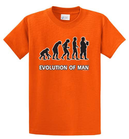 Evolution Of Man Drinking Printed Tee Shirt-1