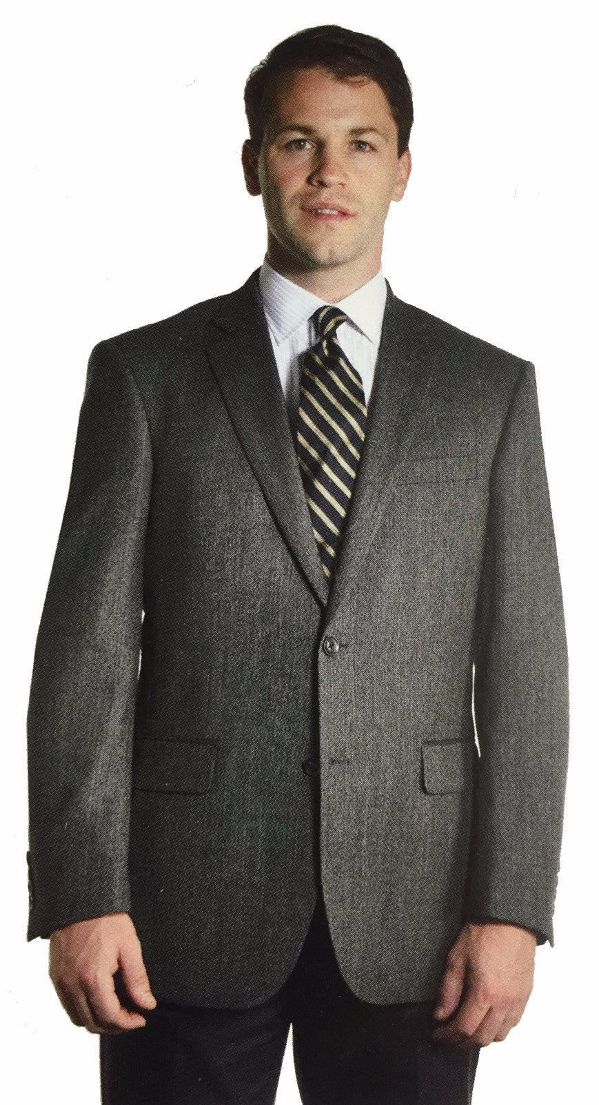 Men's Year Round Wool Plaid Sport Coat-1