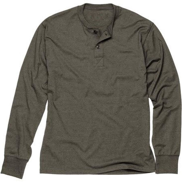 Sovereign USA 100% Cotton Long Sleeve Henley Tee Closeout-1
