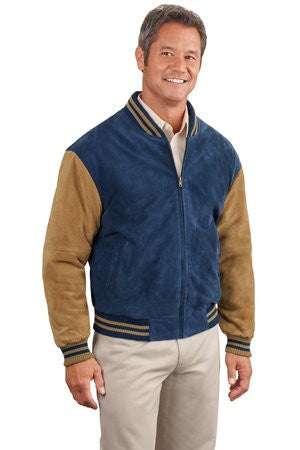 Port Authority Sueded Leather Letterman Jacket-1