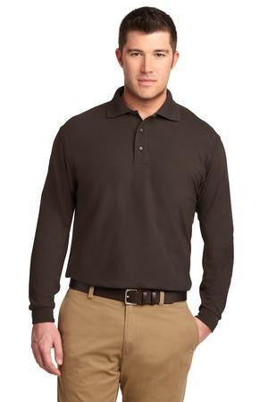 Port Authority Men's Silk Touch Long Sleeve Polo Shirt-1
