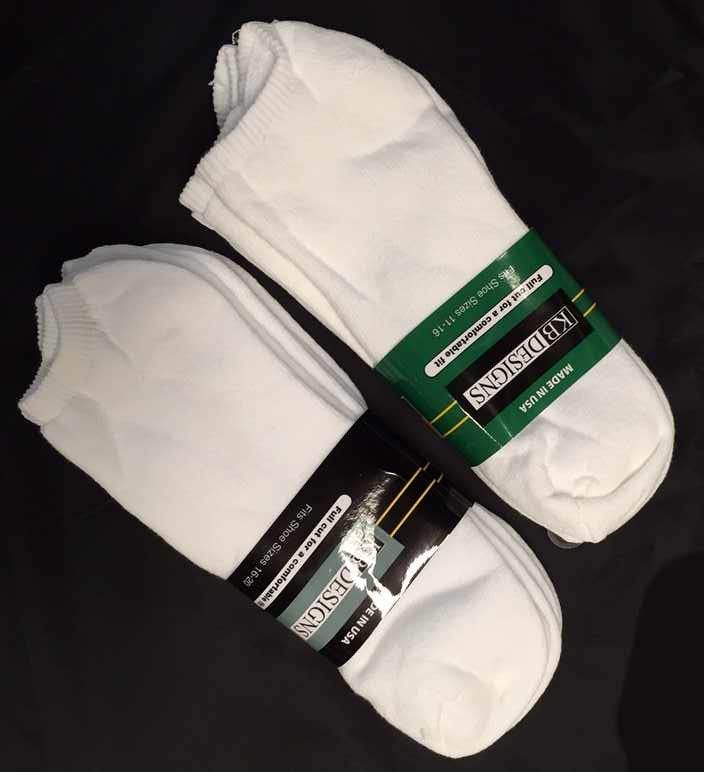 King Size No Show Sock (3Pr Pack)-1