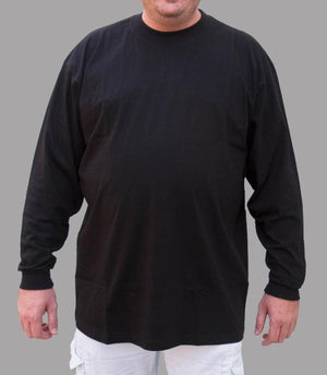 GREYSTONE Big Tall Man Cotton LONG SLEEVE TEE SHIRT