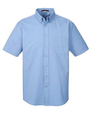 Harriton Men's 100% Cotton Short-Sleeve Twill Shirt with Teflon™ Closeout