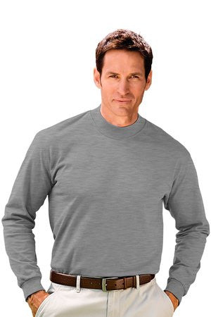 Port & Company Long Sleeve Mock Turtleneck Tee Shirt-1