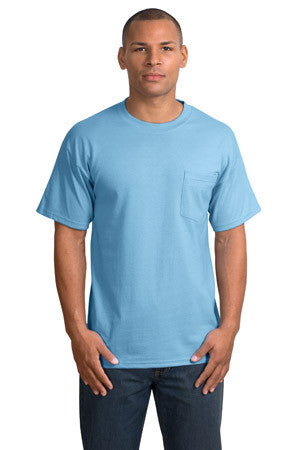 Port & Company Heavyweight Cotton Pocket Tee Shirt-1