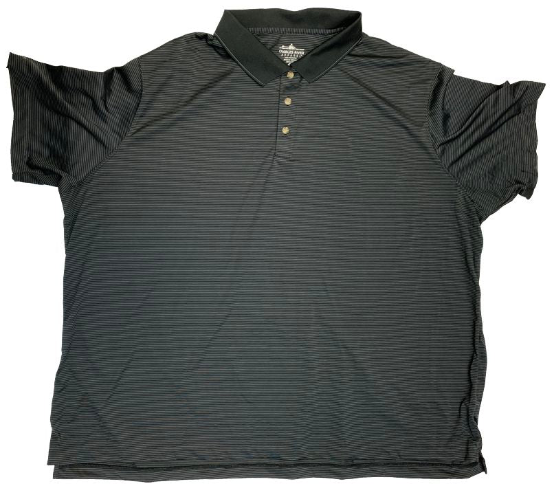 Charles River Sport Polyester Micro Stripe Polo Closeuot-5