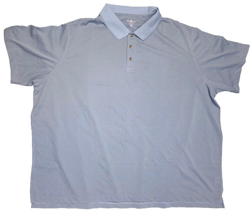 Charles River Sport Polyester Micro Stripe Polo Closeuot-2