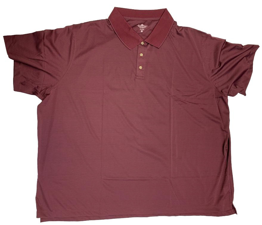 Charles River Sport Polyester Micro Stripe Polo Closeuot
