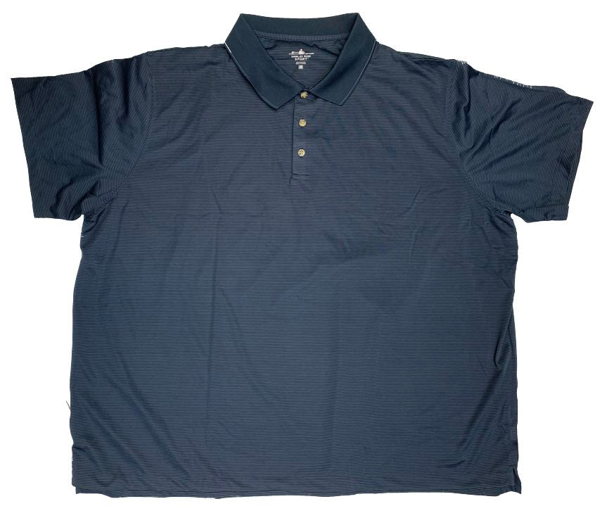 Charles River Sport Polyester Micro Stripe Polo Closeuot-4