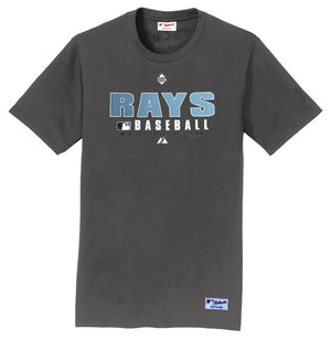 Majestic Tampa Bay Rays Baseball Big Man Tee Shirt Closeout