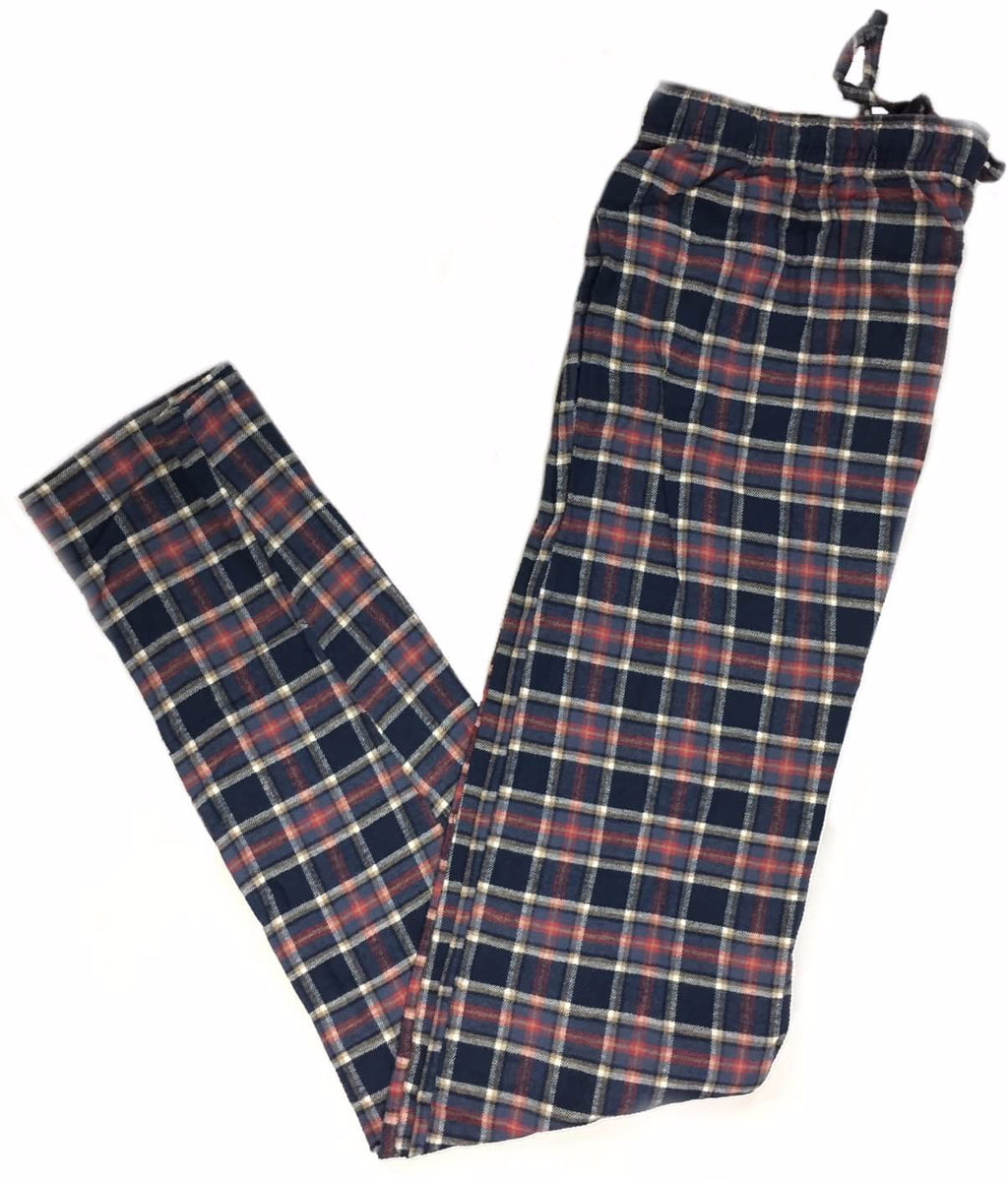 Men's Plaid Flannel Lounge Pants-10