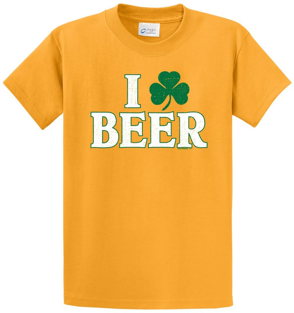 I Clover Beer Printed Tee Shirt-1