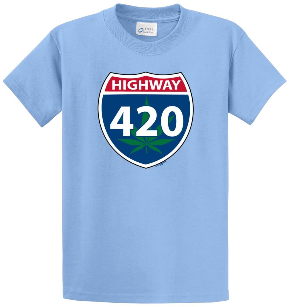 Highway 420 Printed Tee Shirt-1