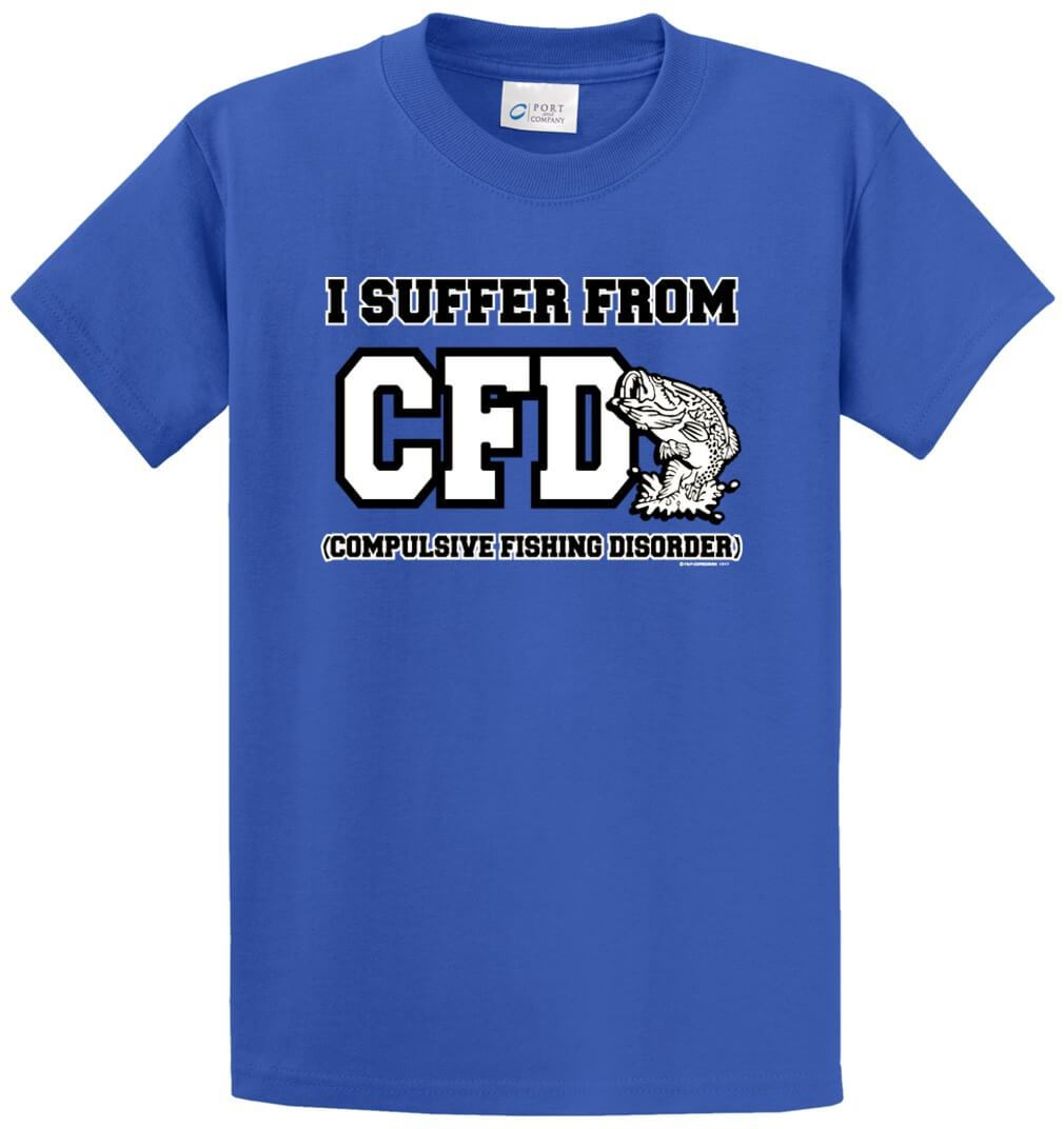 I Suffer From Cfd Printed Tee Shirt-1