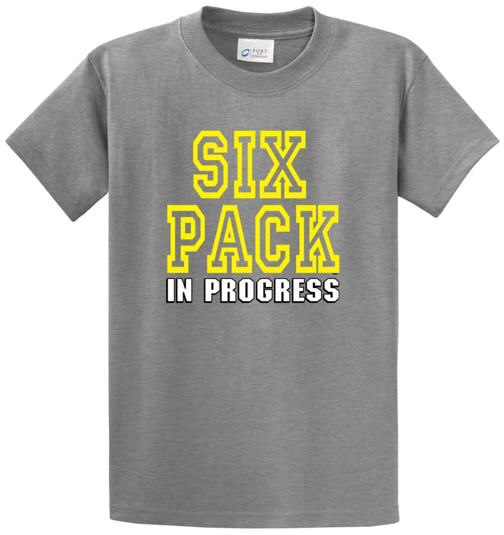 Six Pack In Progress Printed Tee Shirt-1