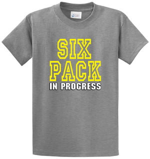 Six Pack In Progress Printed Tee Shirt