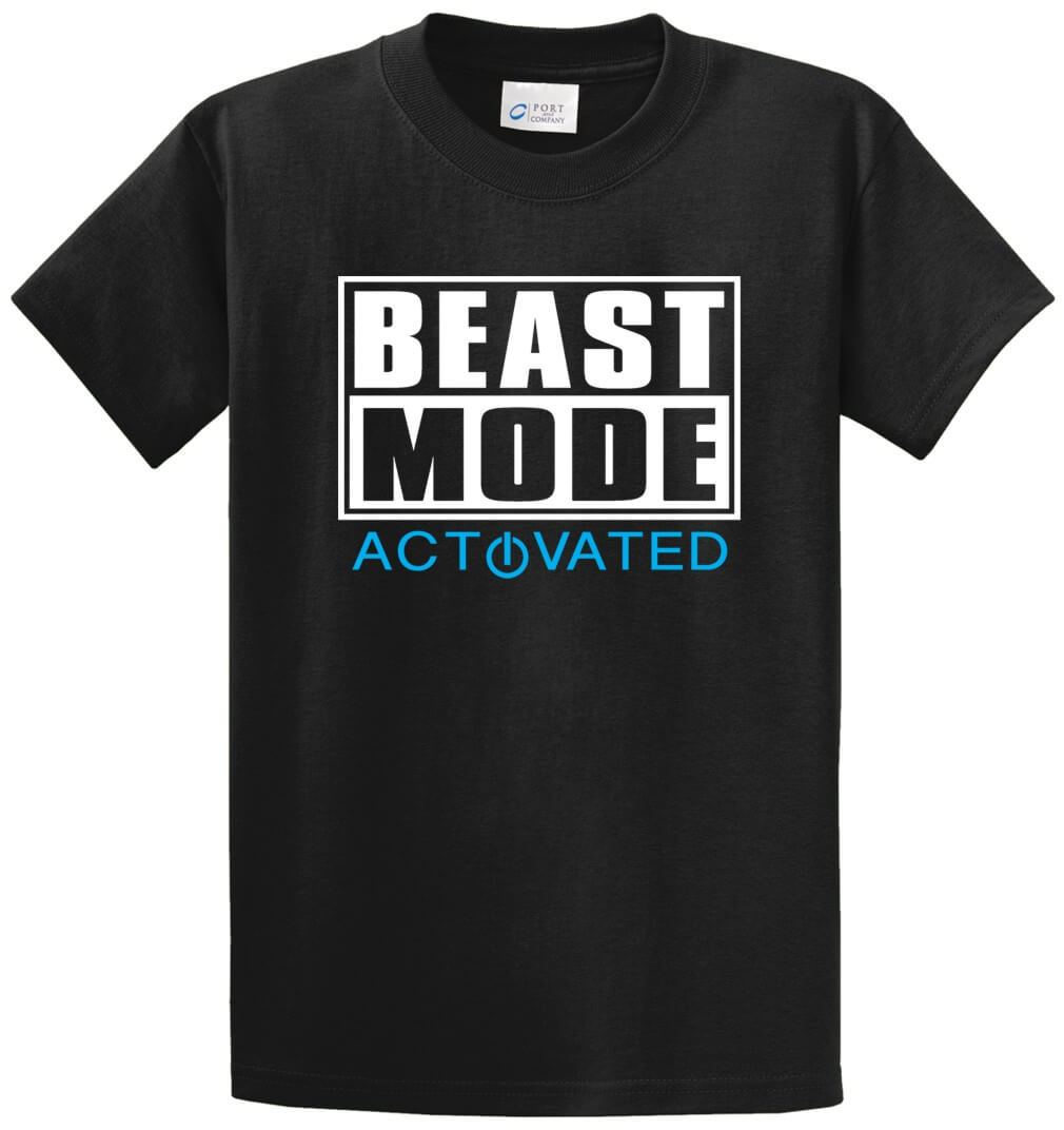 Beast Mode Activated Printed Tee Shirt-1
