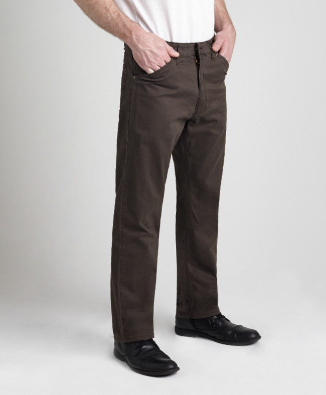 Grand River Lightweight Brown Stretch Twill Pant-2