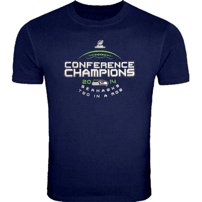 Majestic SEAHAWKS 2014 NFC Champs Big Man Tee Shirt Closeout-1