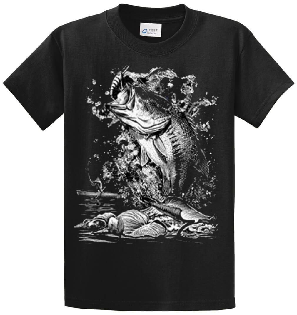 Biting Bass (Oversized) Printed Tee Shirt-1