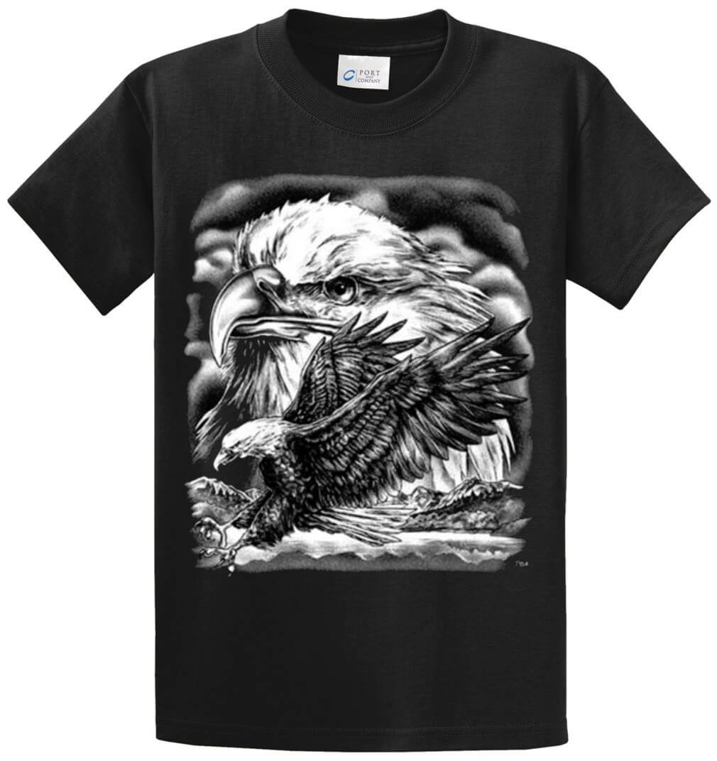 Eagles (Oversized) Printed Tee Shirt-1