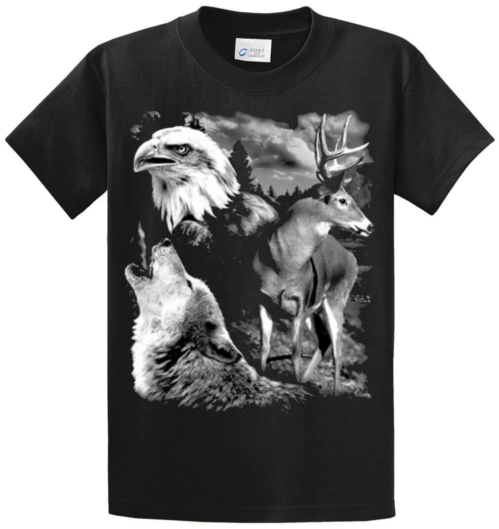 Call Of The Wild (Oversize) Printed Tee Shirt-1