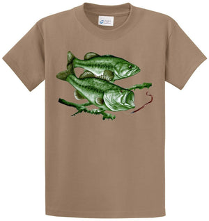 Largemouth Bass Scene Printed Tee Shirt