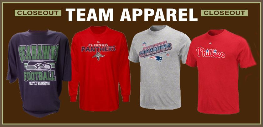 100% Cotton Licensed Sports Team Closeouts