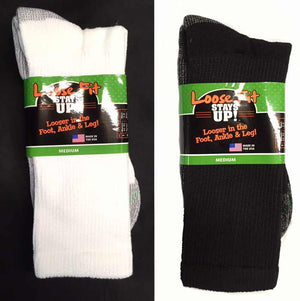 Men's Loose Fit Sock Regular And King Size Crew Sock