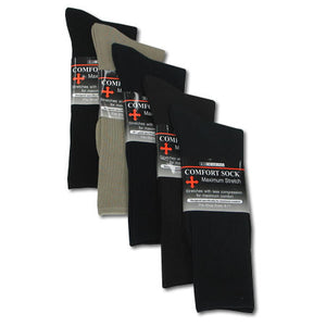 Men's Wide Stretch Comfort Dress Sock