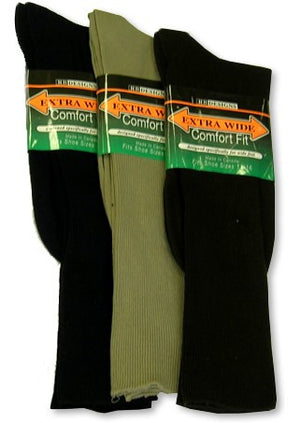 Men's Extra Wide Dress Sock