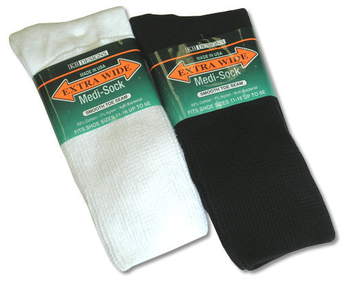 King Size Extra Wide Diabetic Crew Sock-1