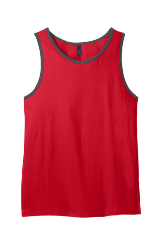 100% Cotton Ringer Tank Top Closeout-3