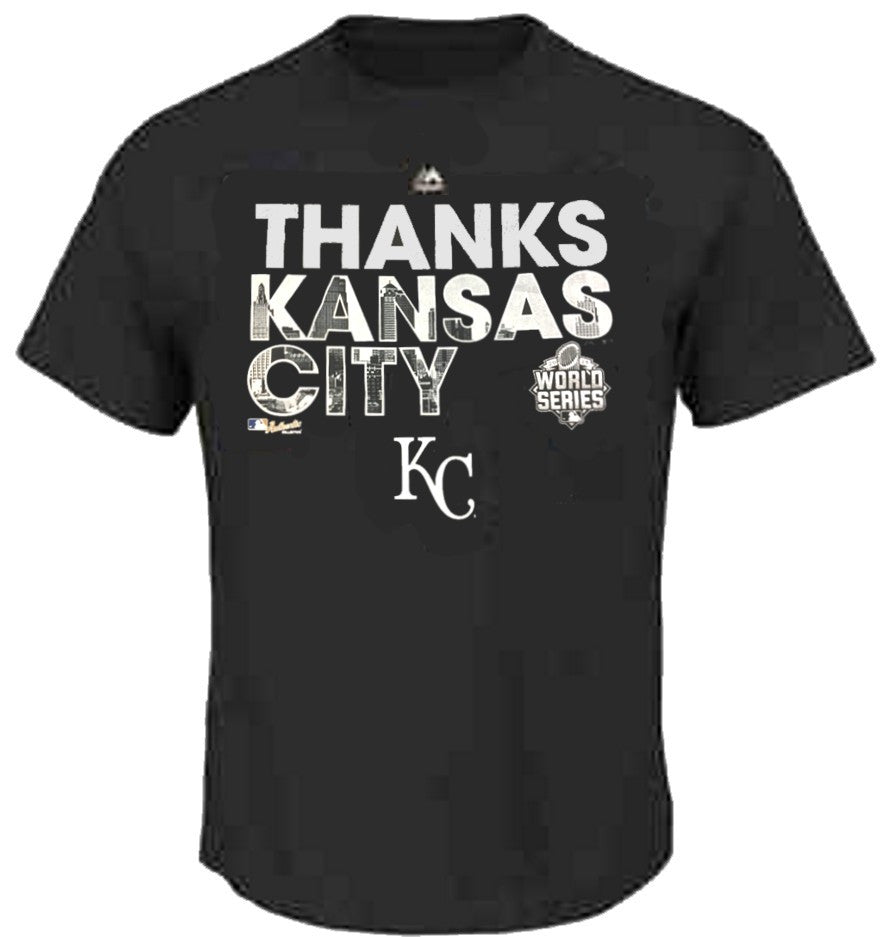 Majestic Thanks Kansas City Big Man Tee Shirt Closeout-1